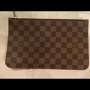 Louis Vuitton Damier Ebene Zip Clutch